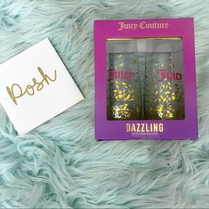 Juicy Couture Dazzling Confetti Stemless Flutes